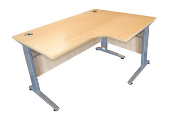 Picture of Electric Height Adjustable Curved Desk