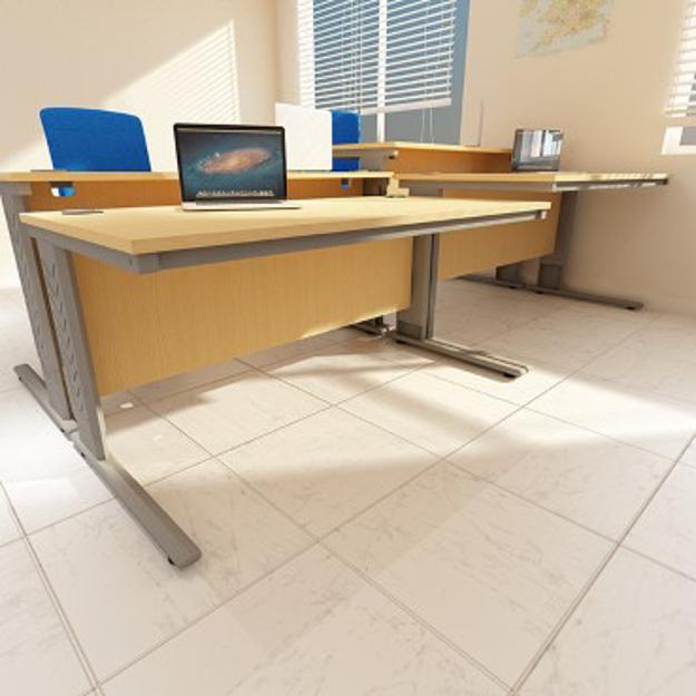 Height Adjustable Straight Desk