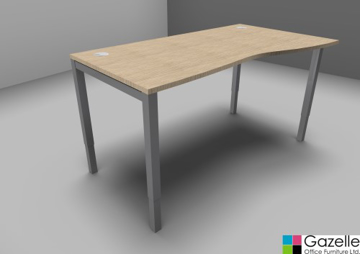 Picture of Height Adjustable Wave Desk