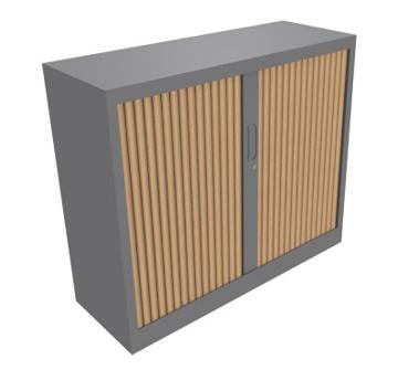 Picture of Classif – Tambour Door Cabinet in 2 Heights