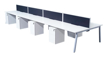 Picture of Contract White Double Starter Bench Desk