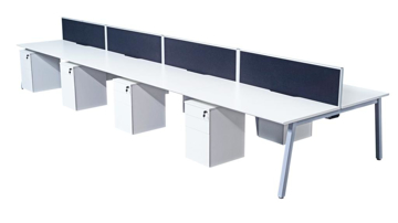 Picture of Contract White Double Add-on Bench Desk