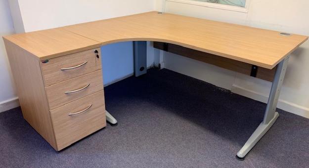 Picture of CD 1 – 1600mm Left Hand Corner Desk And Pedestal