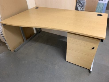 Picture of WD 3 - 1600mm Left Hand Wave Desk