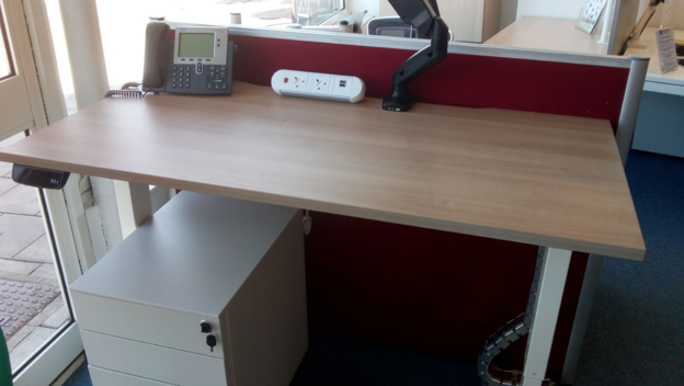 Picture of Electric Height Adjustable Straight Desk