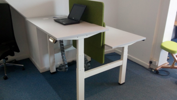 Picture of Electric Height Adjustable Double Straight Desk