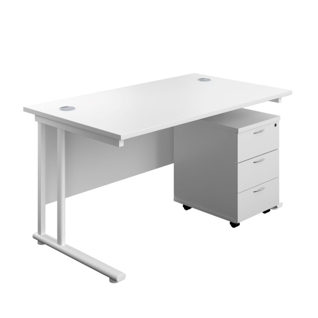 Picture of Express Straight Cantilever Desk Package
