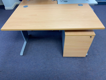 Picture of SD 8 - 1400mm Straight Desk And Pedestal