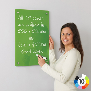 Picture of Coloured Glass Wipe Board