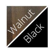 Walnut And Black