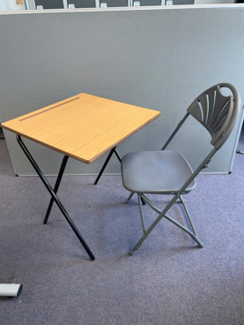 Picture of MT 11 -Folding  Exam Desk And Chair Package